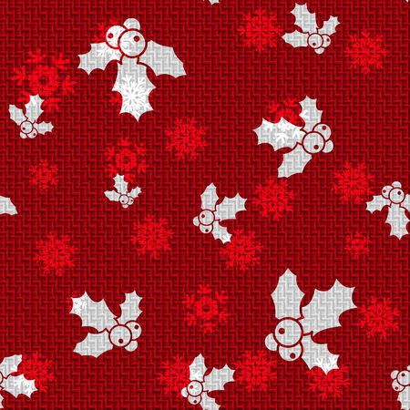 hollies: Vector Christmas Background with Hollies