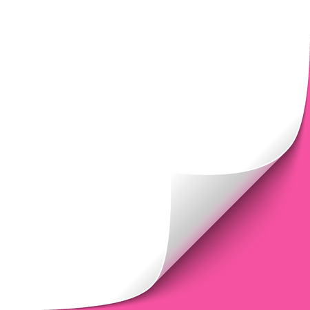 curled corner: Curled Paper Corner with Hot Pink Background