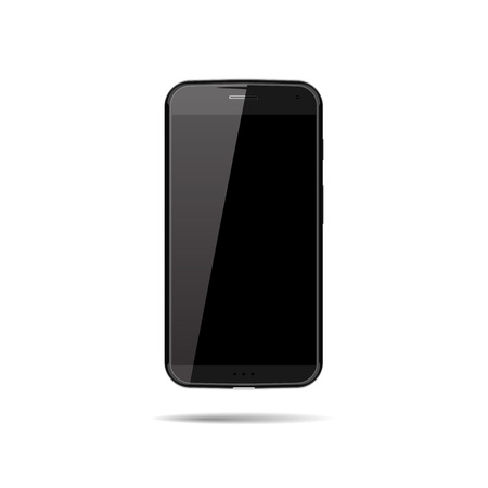 developers: Realistic Vector Illustration of New Modern Phone Smartphone. Mockup for Game Developers, Applications and other Useful Equipment.