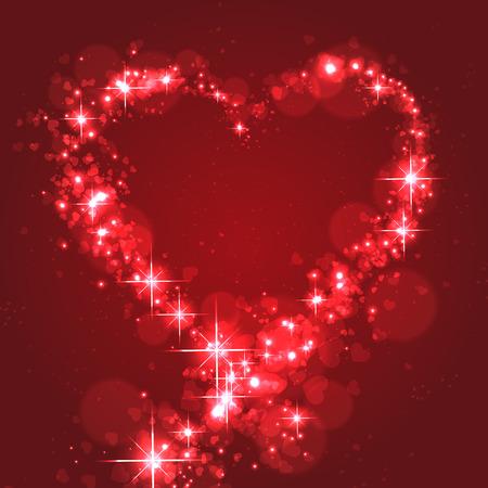 flickering: El parpadeo de forma de coraz�n para Lovers.Vector Ilustraci�n Vectores