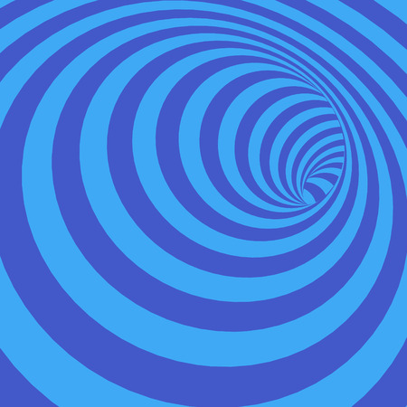 bluish: Vector Illustration of Abstract Twisted Bluish Striped Tunnel