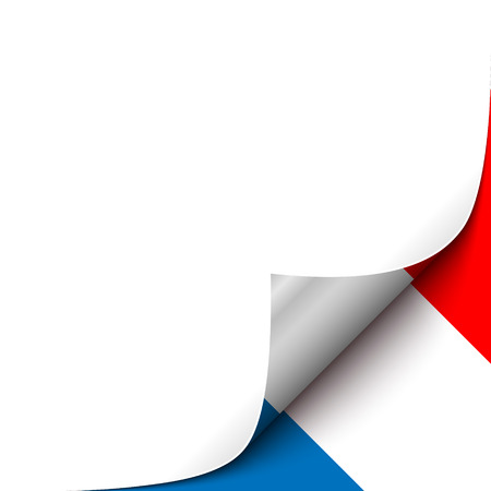 curled up: Curled up Paper Corner on French Flag Background. Vector Illustration for your Page Design Illustration