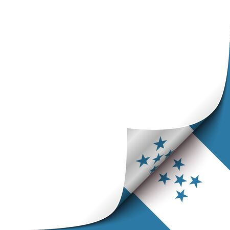 Curled Paper Corner with Honduras Flag Background. Vector Illustration for your Design Vector