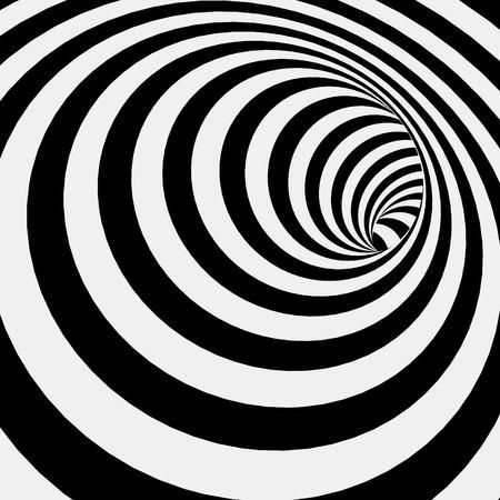 espiral: Resumen de rayas Fondo espiral del túnel. Ilustración vectorial