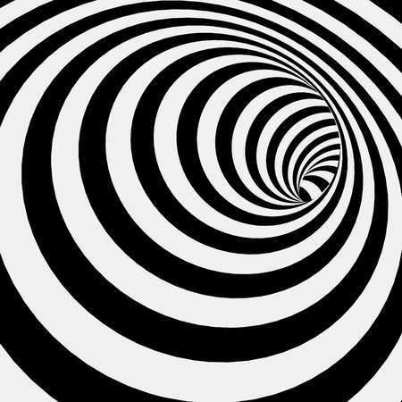 Spiral Striped Abstract Tunnel Background. Vector Illustration