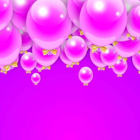 jazzbow: Party Balloons Background for your Text. Vector Illustration.