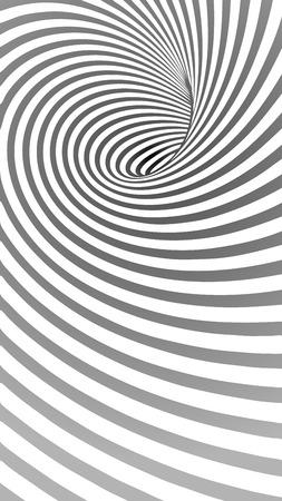 Spiraal Gestreepte abstracte tunnel achtergrond. Vector Illustratie