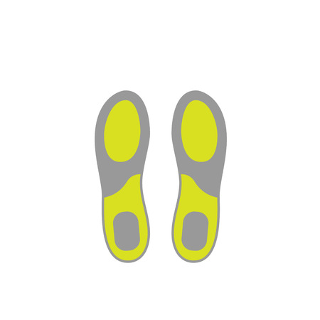 insoles: Flat Icon of Shoe Insoles Isolated on White Background. Vector Illustration