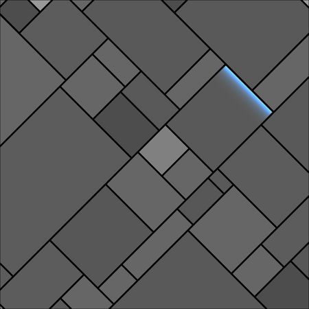 structured: Vector Dark Rectangular Structured Background Illustration with Light