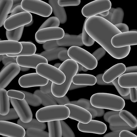 bacterial meningitis: Listeria Sticks on Dark Background. Vector Illustration