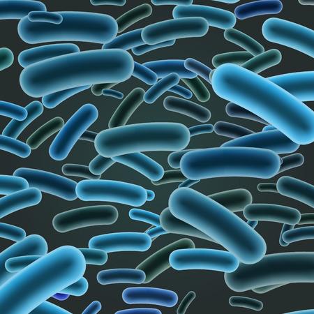 暗い背景上にリステリア菌棒。ベクトル図  イラスト・ベクター素材