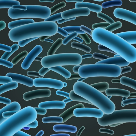 Listeria Sticks on Dark Background. Vector Illustration