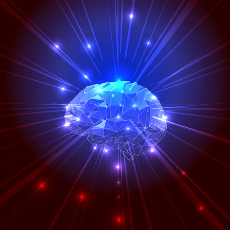 creative thinking: The Concept of Active Human Brain with Rays.