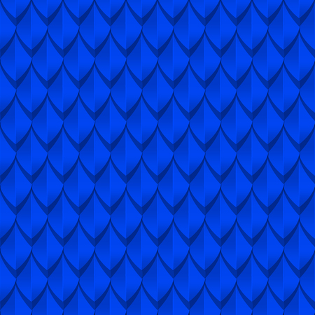 blue dragon: Blue dragon scales seamless background texture. Vector illustration