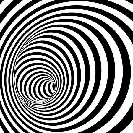 tunel: Resumen de rayas Fondo espiral del túnel. Ilustración vectorial