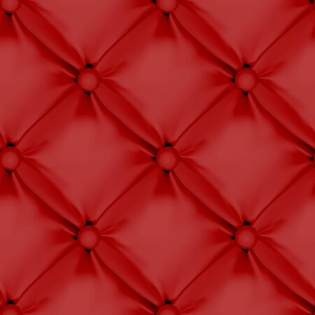seamless leather: Red Seamless Leather Upholstery Pattern. Vector Illustration