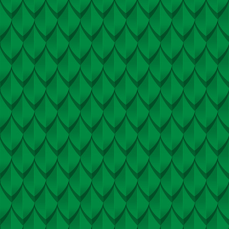 Green dragon scales seamless background texture. Vector illustration