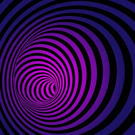 whirl: Spiral Striped Abstract Tunnel Background. Vector Illustration