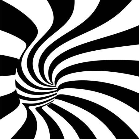 espiral: Espiral abstracto con rayas de fondo del túnel.