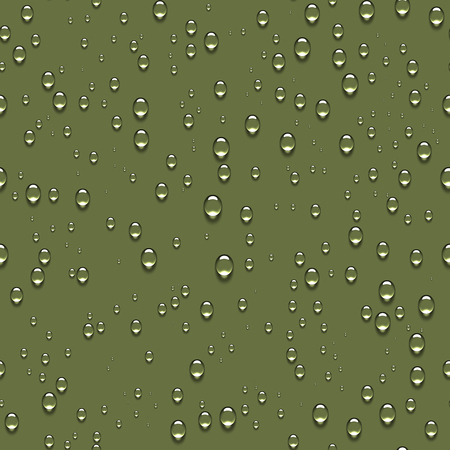 Pure clear water drops realistic seamless background. Ilustracja
