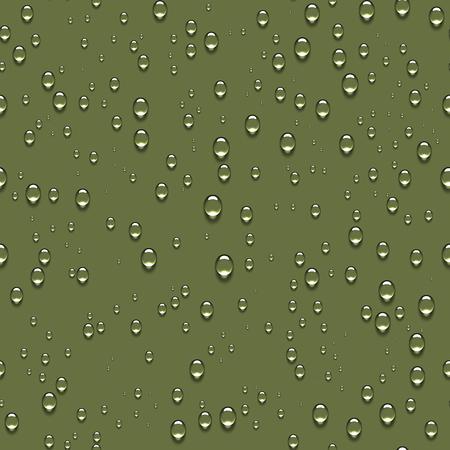 Zuivere heldere druppels water realistische naadloze achtergrond.