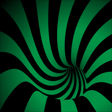 curl whirlpool: Spiral Striped Abstract Tunnel Background. Vector Illustration