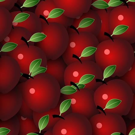 roughage: Vector Seamless Pattern Background with Apples Illustration