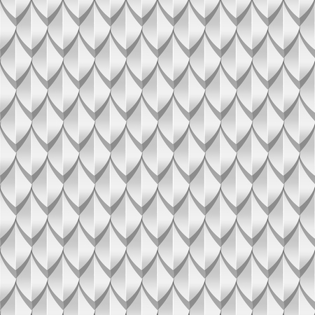 White dragon scales seamless background texture. Vector illustration