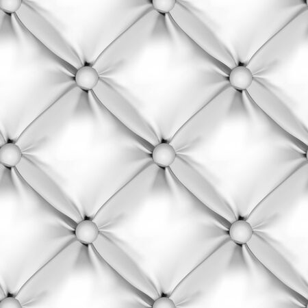 seamless leather: White Seamless Leather Upholstery Pattern. Vector Illustration