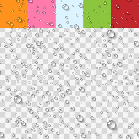 Water Transparent Drops Seamless Pattern Background. Vector Illustration