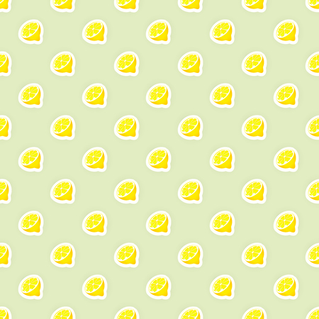 food preservation: seamless pattern background with lemon fruit illustration. Lemon fruit seamless pattern. Citrus fruit seamless pattern. Seamless background for packaging design of fruit products