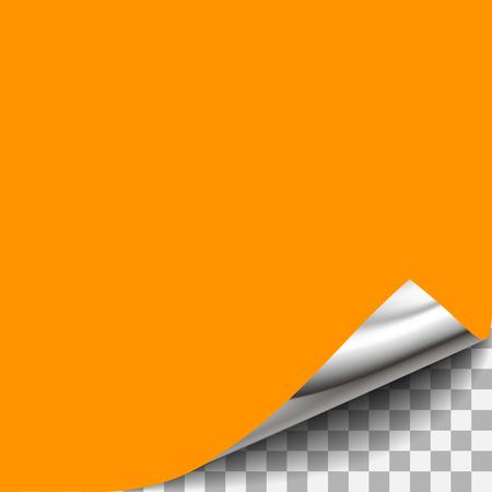透明な紙の隅をカールしました。角が丸まった紙ページ デザインのシート、ドキュメントの丸まった角が、丸まった角、角が丸まったデザインを持