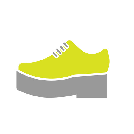 orthopedic: Flat Icon of Orthopedic Shoe Isolated on White Background. Illustration