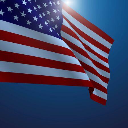democracy: American flag vector illustration. Symbol of freedom or democracy Illustration