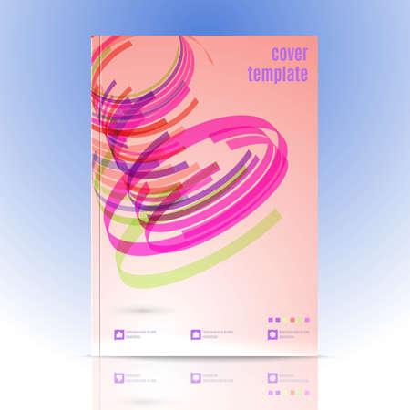 Vector Design for Cover Layout in A4 size. Modern Vector Abstract Design Template for Brochure, Book, Presentation, Leaflet , Flyer Template.