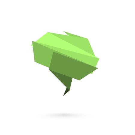 folded paper: Abstract folded paper symbol of brain. Vector illustration Illustration