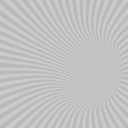 wormhole: Gray Striped Abstract Hypnotic Tunnel. Vector Illustration Illustration