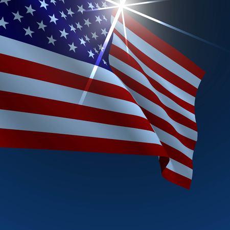 democracy: USA American flag vector illustration. Symbol of freedom or democracy