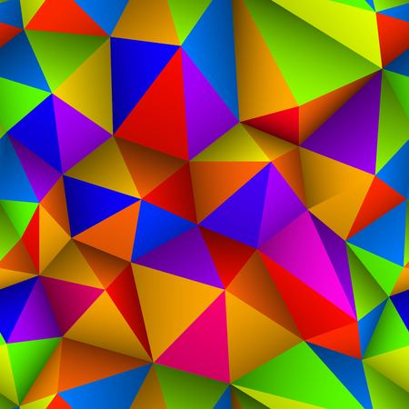 Colorful triangle seamless low-poly background. Abstract triangle colorful texture. Low poly pattern vector illustration. Ilustracja