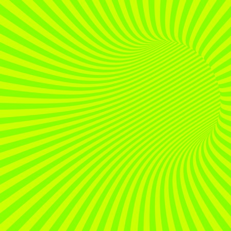wormhole: Green Striped Abstract Hypnotic Tunnel. Vector Illustration