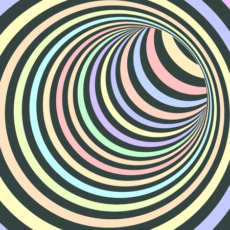 Colorful Striped Abstract Tunnel Background. Vector Illustration Ilustracja