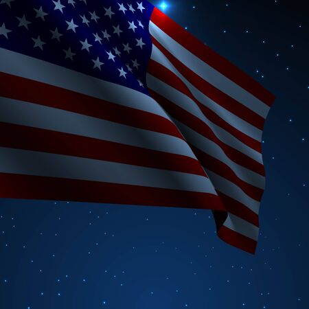 USA American flag vector illustration. Symbol of freedom or democracy