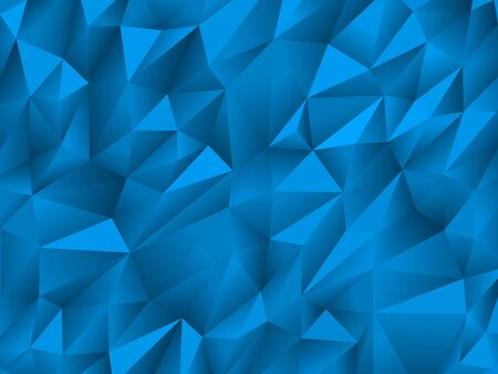 Blue abstract low-poly, polygonal triangular background. Vector illustration Ilustracja