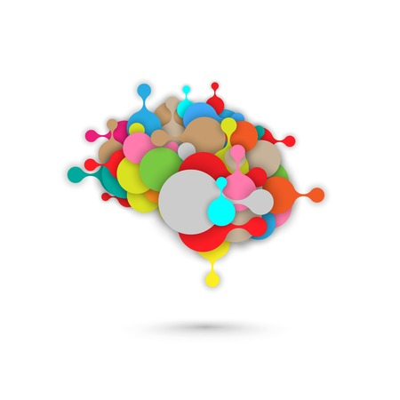 Abstract modern brain vector metaball graphic illustration Ilustracja