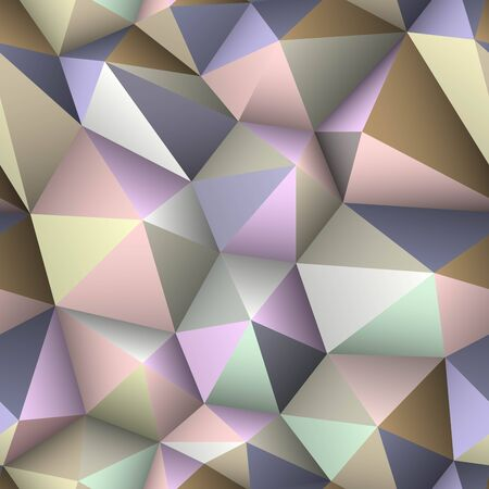 Colorful triangle seamless low-poly background.