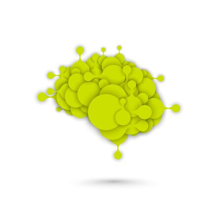 Abstract brain vector metaball graphic