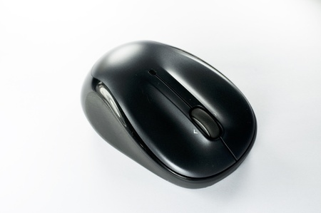 Wireless mouse isolated on white background