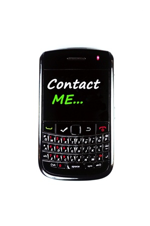 Mobile phone display Please Call Me with white background Stock Photo