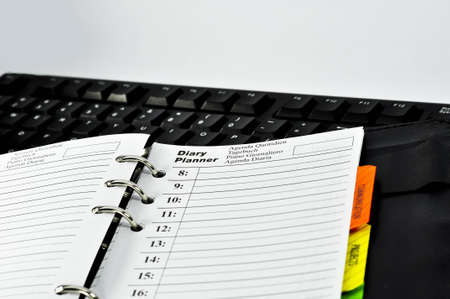 Diary Planner with white background photo