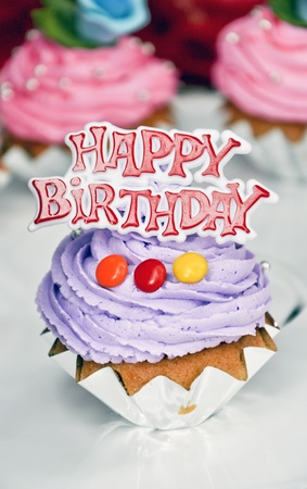 small happy birthday cakes with candy
